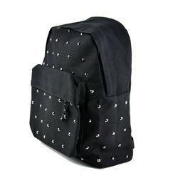 New Fashion Rivet Canvas Backpack Casual Shoulder Satchel Bags School Travel Bag for women12117