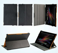 Multi-Angle Stand Hand Strap Leather Case Cover For Sony Xperia Tablet Z SO-03E