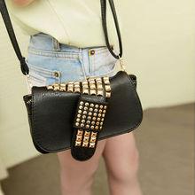 2013 Korea Rivet Retro Women's Girls Small Shoulder Bag tote messenger bags Cross-body Clutch Handbag