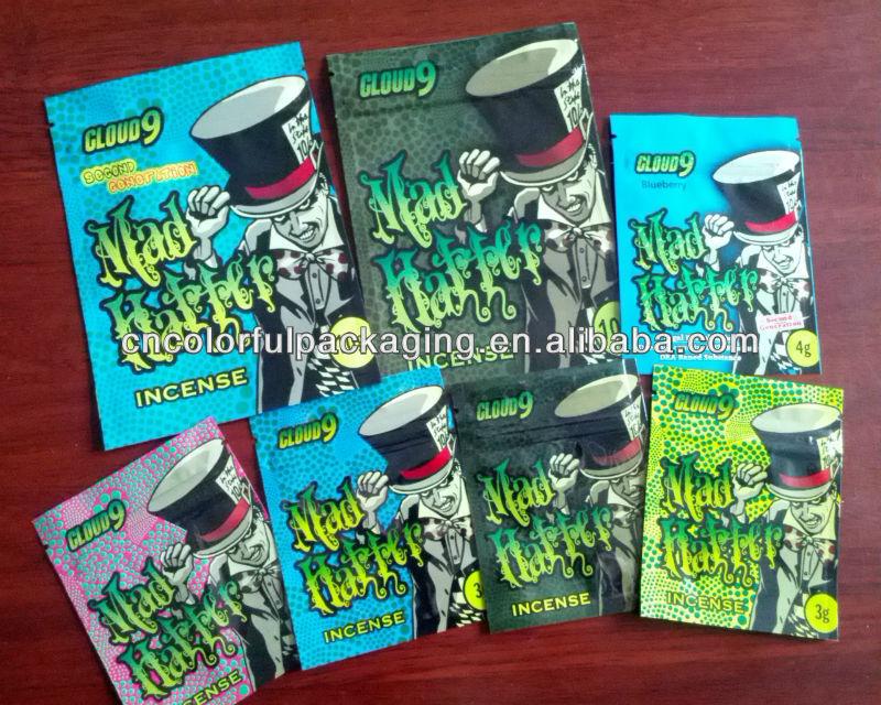 Mad Hatter Incense High 3g 4g 10g Mad Hatter Spice Potpourri Bags Mad Hatter Incense Bag View High