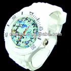2013 silicon watch customized logo printed on dial unisex