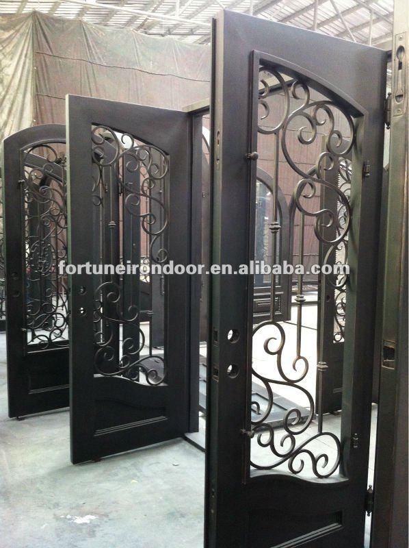 Home depot forjado puertas de entrada de hierro caliente for Puerta home depot