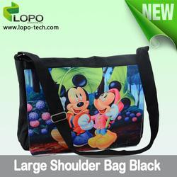 Sublimation Shoulder Bag Black Large Size