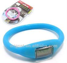 slicone digital lcd sports watch thin rubber sports watch 10g