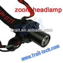 1 Watt Waterproof Flashlight Camping Mini zoom headlamp