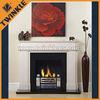 decorative indoor fireplace mantel