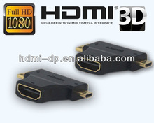 HDMI 3 in 1 adaptor HDMI AM to CM to DM adaptor
