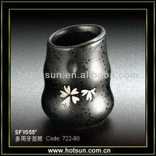 Japanese sakura stoneware toothpick container SFY055