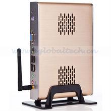 Fanless mini industrial PC,Mini Desktop PC using Intel Atom N270 1.6 GHz,Multi Media Mini PC Share with 6 USB 1080P player Offic