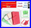 "Cartoon Leather Case Cover Stand Mini B Keyboard case For 7 inch ipad 4 case leather 7.0"" Tablet + Protector+ Pen"