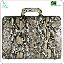 Luxury quality genuine python leather luggage