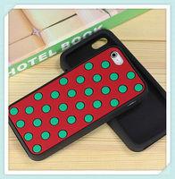 Cute Polka dot silicone gel skin case for iPhone5