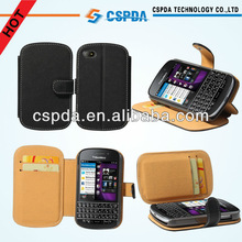 For Blackberry Q10 mobile phone PU leather wallet case cover
