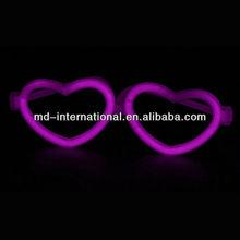 heart shape toy glow glasses, 8inch glow stick