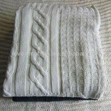 50cc71 100% cotone puntocroce coperta a maglia, patchwork a maglia coperta, coperta 2013
