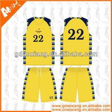 A-league quality Sublimation Latest Basketball practice shirt/short