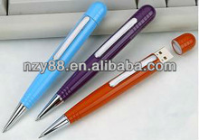 Popular promotional gift ballpen usb flash memory drive
