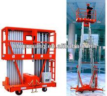 double mast aluminium alloy electric aerial work platform