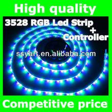 Hot Sell rgb 3528 led strip 270LED/5M RGB +24 key IR Remote controller,non-waterproof home Car decoration