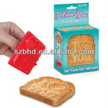 Amazing romantic high qualtiy design I love you Toast Stamper