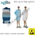 Oem azul branco antiestático ESD sala limpa poliéster algodão vestuário pano roupa roupas sobretudo bata geral jacket jaleco