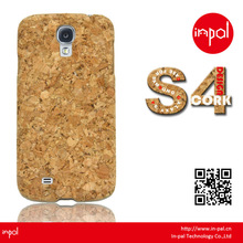 New creat PC slim cork hard cover for samsung galaxy S4