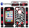 Zebra fancy cover for iphone 4/thick silicon case for iphone 4 rubber/for iphone 4 zebra case/cheap wholesale phone case