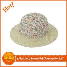 Cute children summer beach farmers straw hats