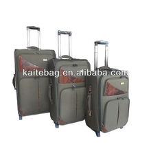2013 unique luggage tags wholesale manufacture 3 pcs set fake button new EVA beauty trolley case