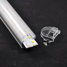 14.4w, warm white, U-slot double line transparent cover, smd 5630 72 leds, addressable led strip