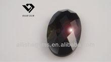 single checker board plain back dark black oval glass crystal gemstones