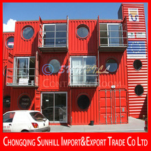 Sunhill Container House/Container Hotel/Living Container with Light Steel Structure