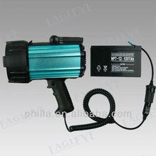 55-100w Portable halogen spotlight xenon light source 35w Rechargeable portable searchlights 3w Portable led spotlight