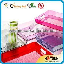 high-quality acrylic amenity tray