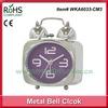 Metal chrome alarm antique mantle clock