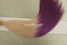 beautiful colours keratin hair extension,russian hair