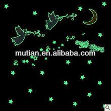 star&moon glow in dark sticker