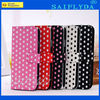 New Arrival Leather Cases for Samsung Galaxy S4 i9500 Leather Case Flip Polka Dots Leather Cases Cover