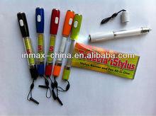 New design Plastic Stylus Banner Pen with money detector