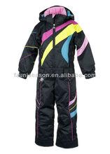 Little Girls One-Piece Ski Suit in Black