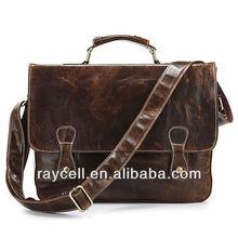 New arrival 2013 Classic Vintage Leather Chocolate color Briefcase Laptop messenger bag