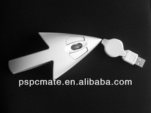 Arrows Design Mini Mouse 3D with Retractable Cable