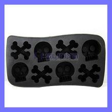 Plastic Cool Design Skull Shape Silicone Ice Tray