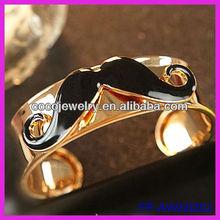 Latest alloy cuff bracelet moustache on it