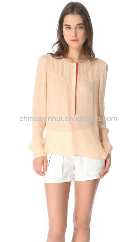 de lujo modelos más vendidos de blusas en chifon--Identificación ...
