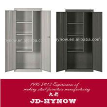 Modern design steel furniture 71 by 35 by 18 2 door clothing metal wardrobe