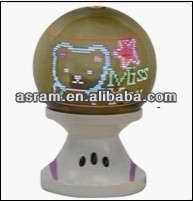 CE&RoHS approved ed 3d ball mini disco mirror led message ball