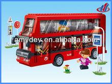 412pcs Building Blocks double-decker bus for children