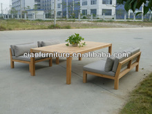 Australian wooden leisure dining set table and chair garden furniture