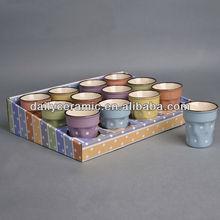 Espresso cup of ceramic with colorful dots desgin